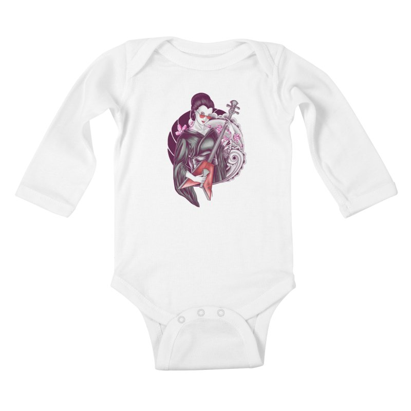 Let's Rock! Kids Baby Longsleeve Bodysuit by monochromefrog