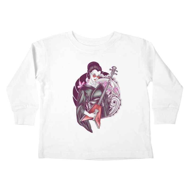 Let's Rock! Kids Toddler Longsleeve T-Shirt by monochromefrog