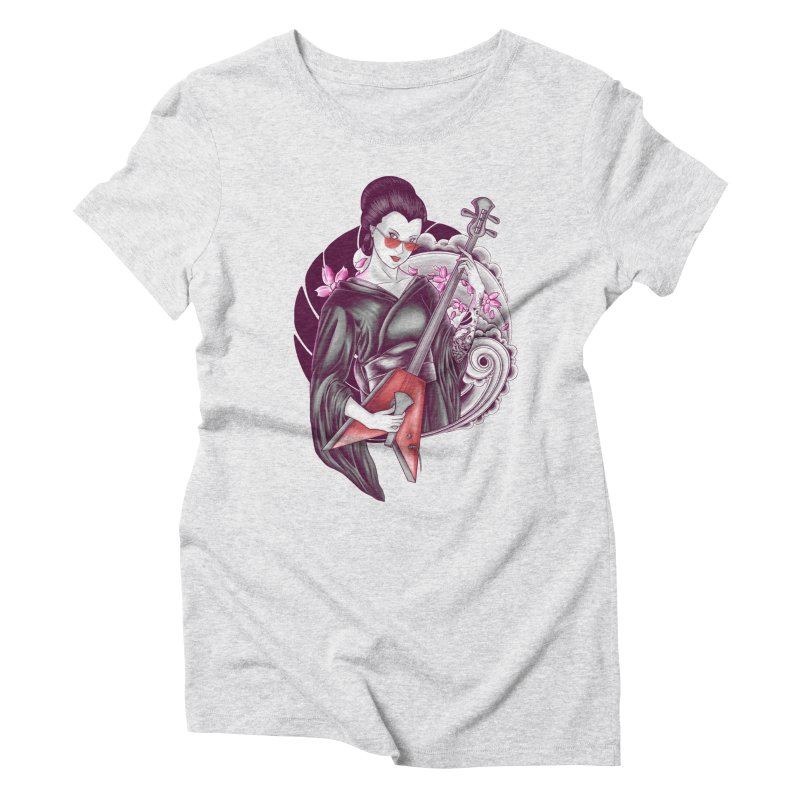 Let's Rock! Women's Triblend T-Shirt by monochromefrog