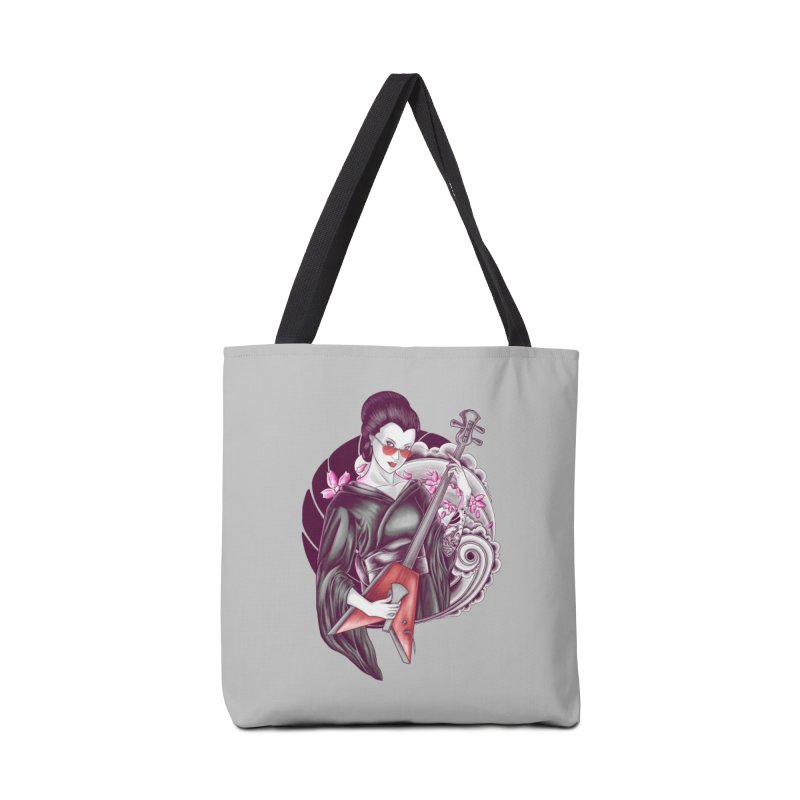 Let's Rock! Accessories Tote Bag Bag by monochromefrog
