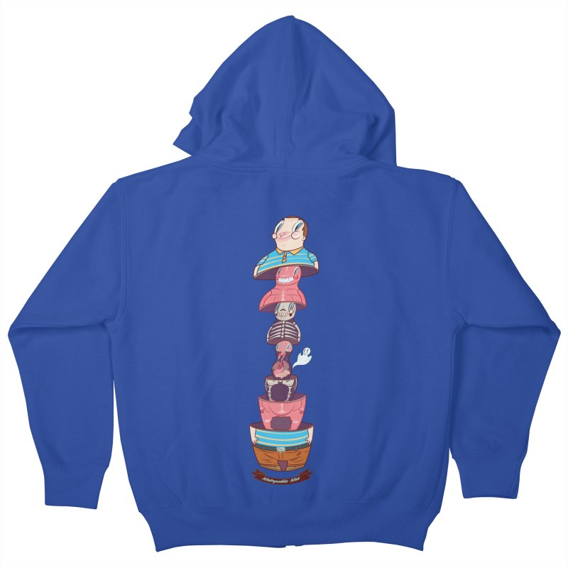 Matryoshka man Kids Zip-Up Hoody by monoestudio's Artist Shop