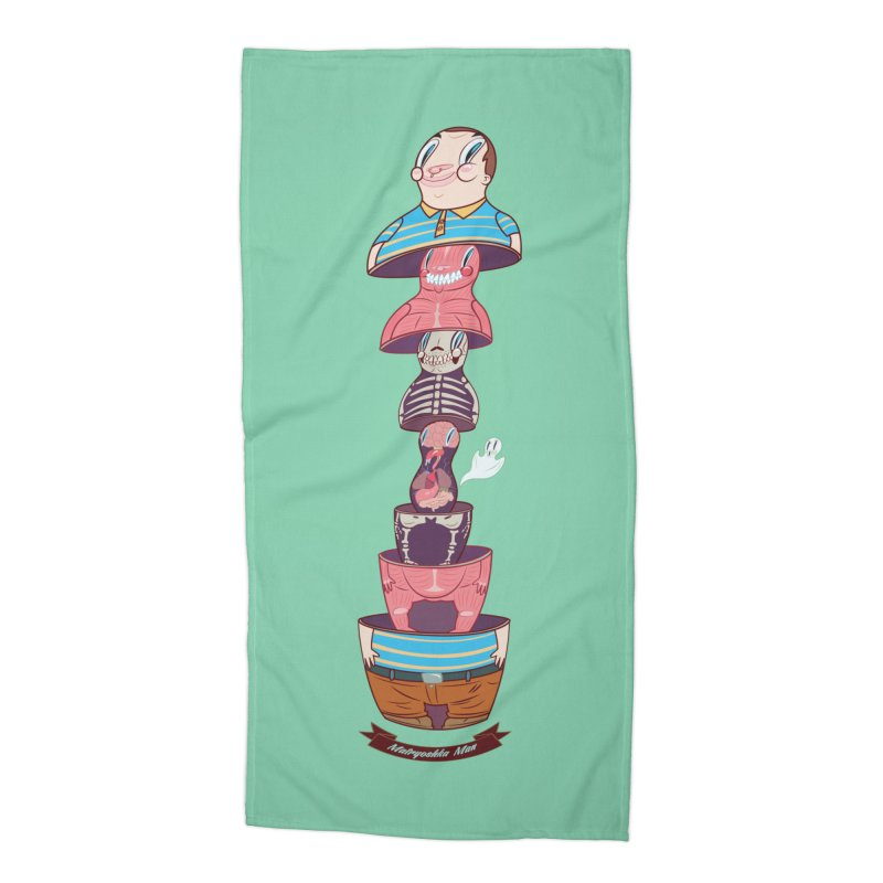 Matryoshka man Accessories Beach Towel by monoestudio's Artist Shop