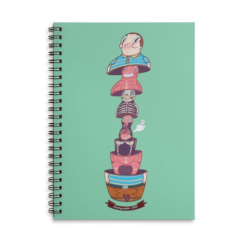 Matryoshka man Accessories Lined Spiral Notebook by monoestudio's Artist Shop