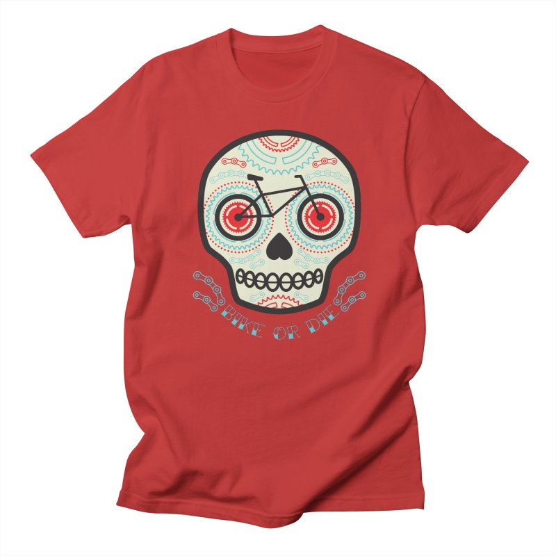 Calaca in Men's Regular T-Shirt Red by monoestudio's Artist Shop