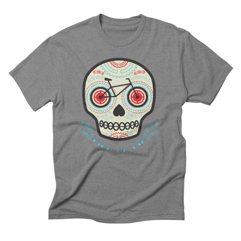 Calaca Men's Triblend T-Shirt by monoestudio's Artist Shop