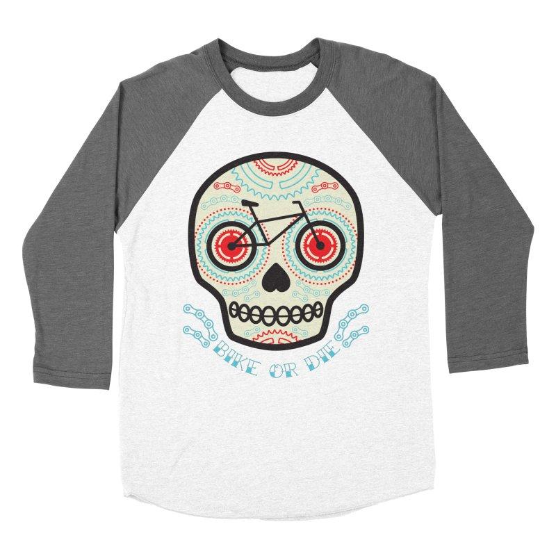 Calaca Women's Baseball Triblend Longsleeve T-Shirt by monoestudio's Artist Shop
