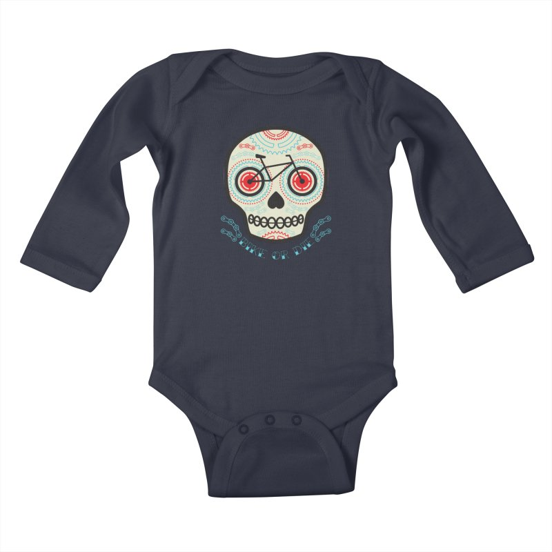 Calaca Kids Baby Longsleeve Bodysuit by monoestudio's Artist Shop