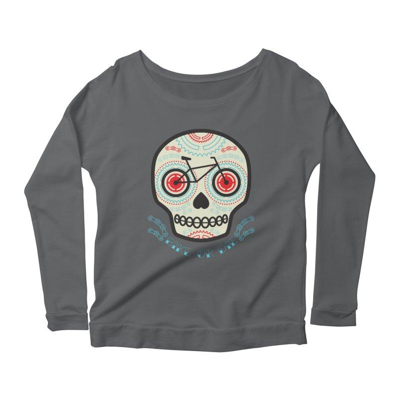 Calaca Women's Scoop Neck Longsleeve T-Shirt by monoestudio's Artist Shop