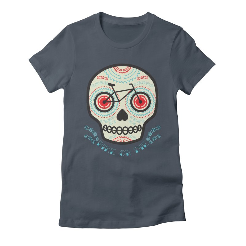 Calaca Women's Fitted T-Shirt by monoestudio's Artist Shop