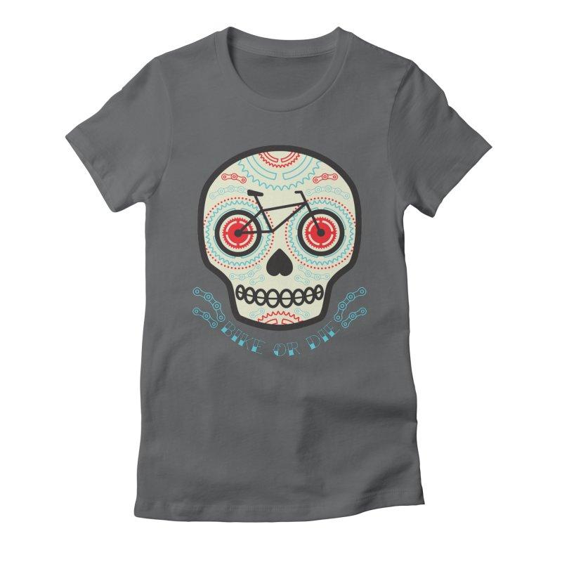 Calaca Women's Fitted T-Shirt by monoestudio's Artist Shop