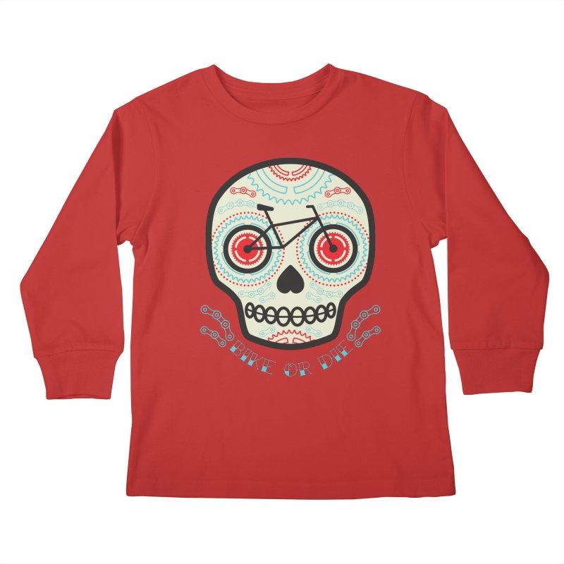 Calaca Kids Longsleeve T-Shirt by monoestudio's Artist Shop
