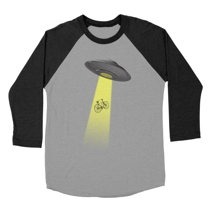 Ufo in Men's Baseball Triblend Longsleeve T-Shirt Heather Onyx Sleeves by monoestudio's Artist Shop