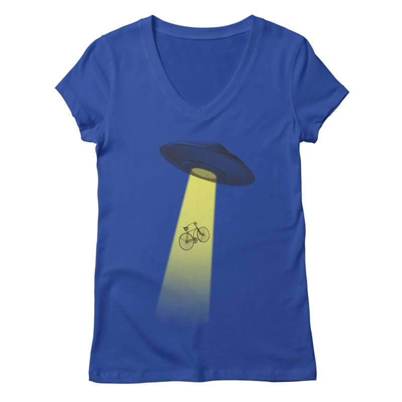 Ufo Women's V-Neck by monoestudio's Artist Shop