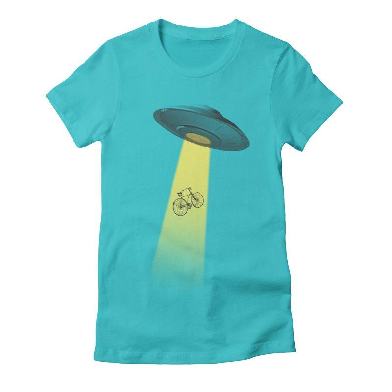 Ufo Women's Fitted T-Shirt by monoestudio's Artist Shop