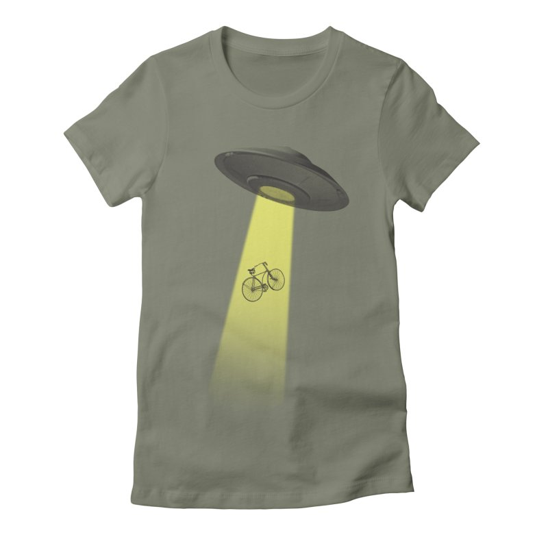 Ufo Women's Fitted T-Shirt by monoestudio's Artist Shop