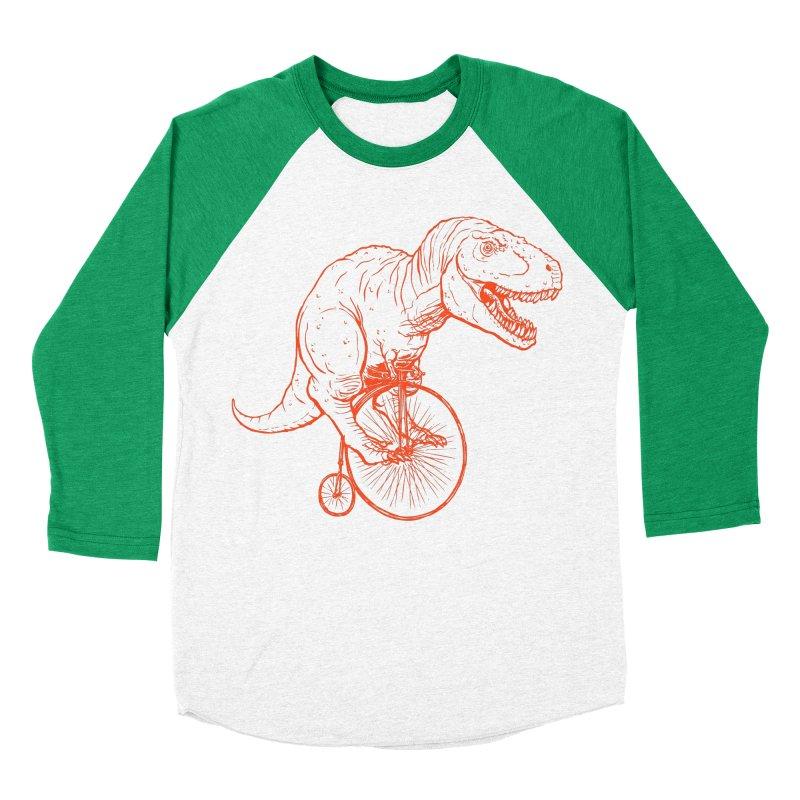 Dino Women's Baseball Triblend T-Shirt by monoestudio's Artist Shop