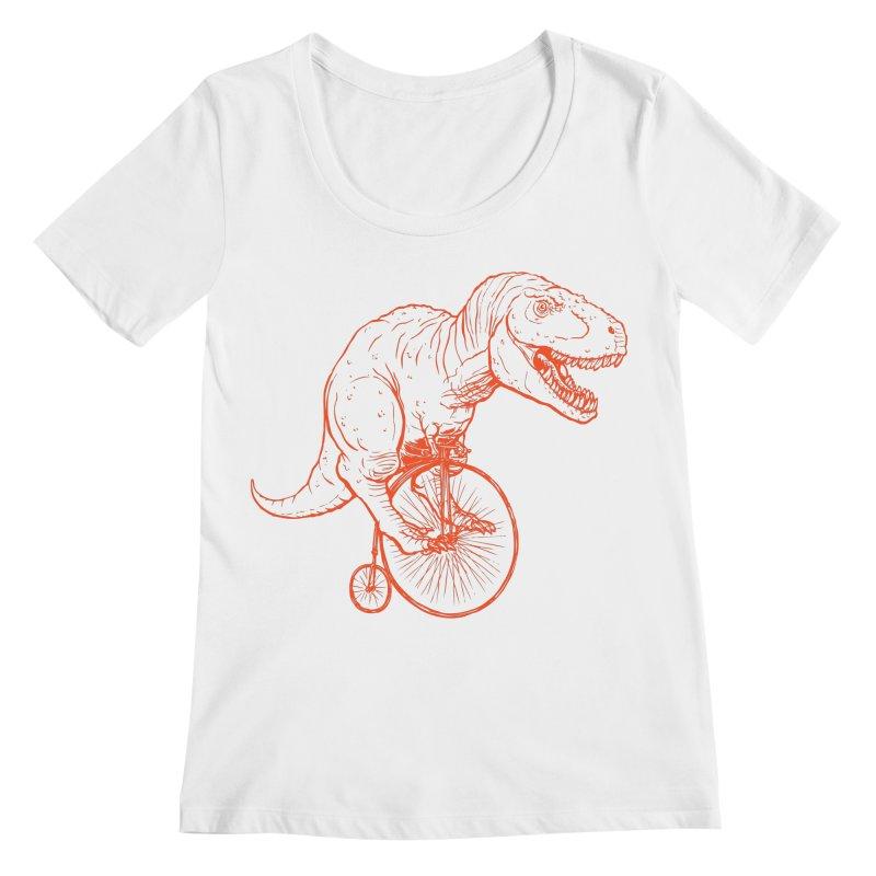 Dino Women's Scoopneck by monoestudio's Artist Shop