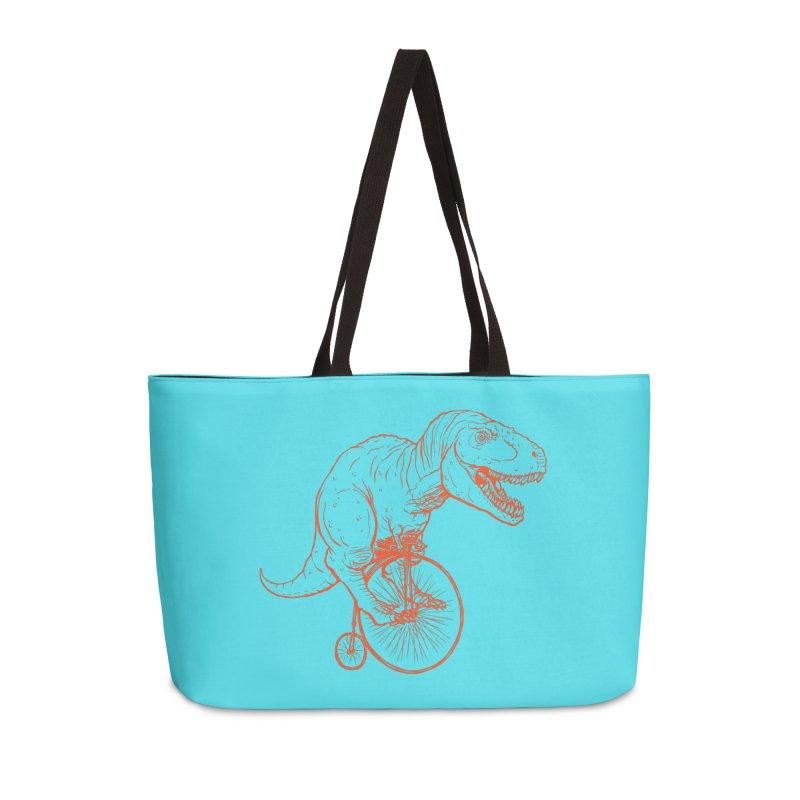 Dino Accessories Weekender Bag Bag by monoestudio's Artist Shop