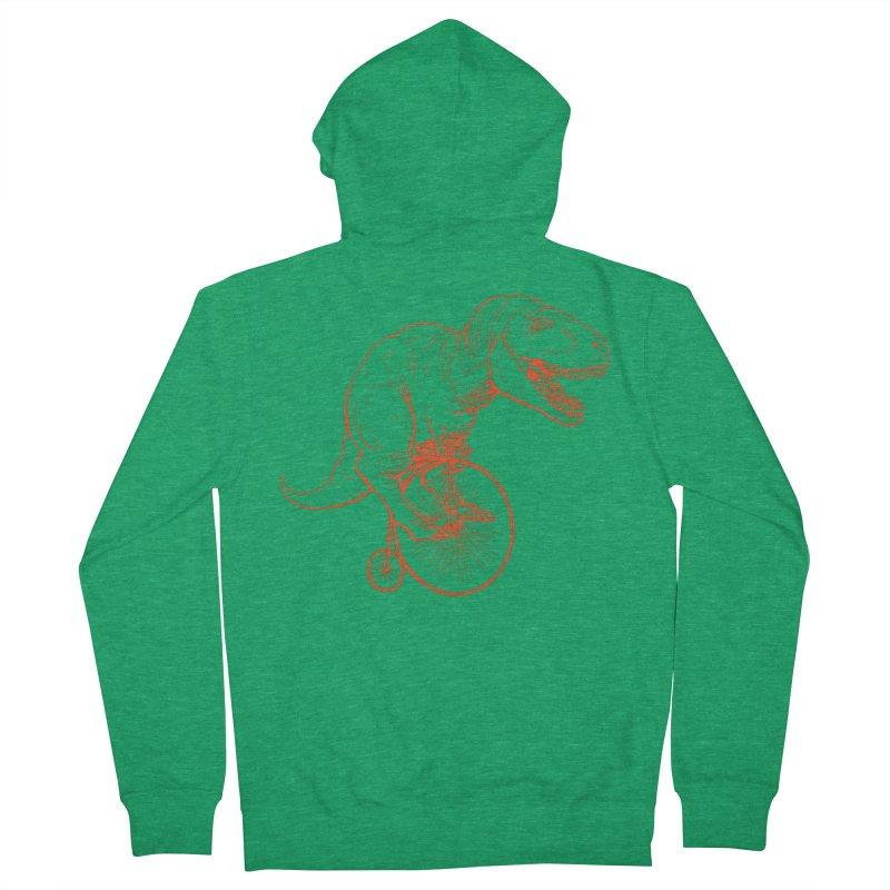 Dino Men's French Terry Zip-Up Hoody by monoestudio's Artist Shop