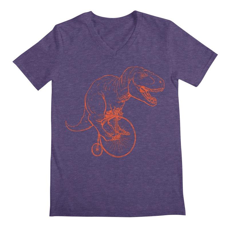 Dino Men's Regular V-Neck by monoestudio's Artist Shop