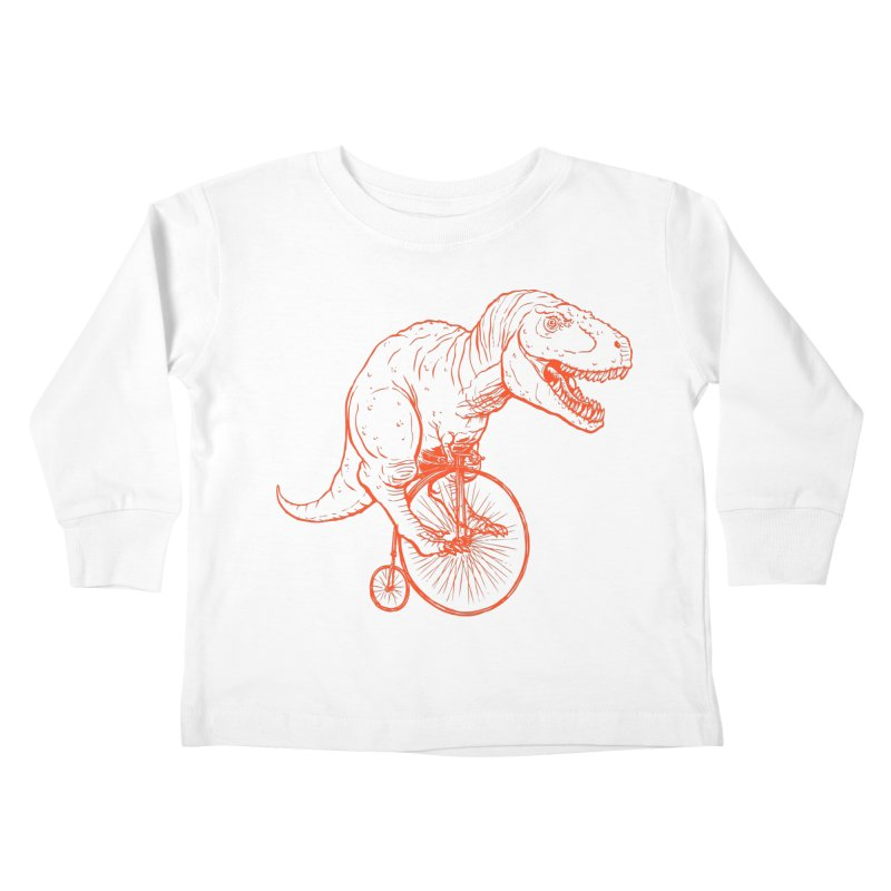 Dino Kids Toddler Longsleeve T-Shirt by monoestudio's Artist Shop