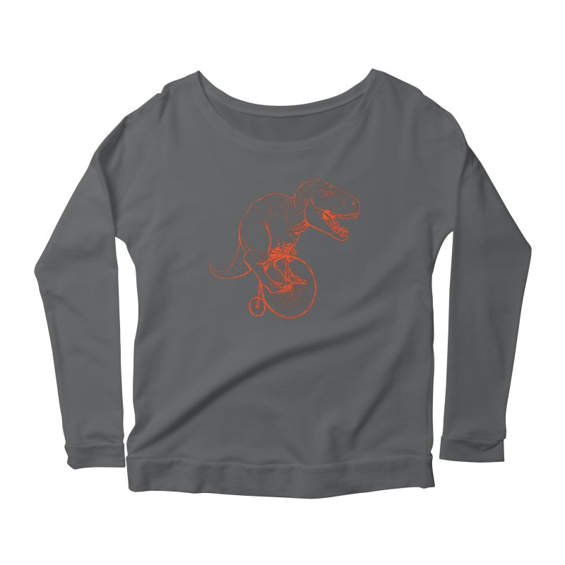 Dino Women's Scoop Neck Longsleeve T-Shirt by monoestudio's Artist Shop