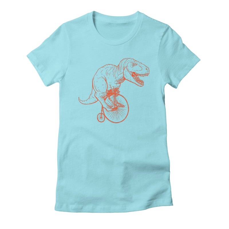 Dino Women's Fitted T-Shirt by monoestudio's Artist Shop