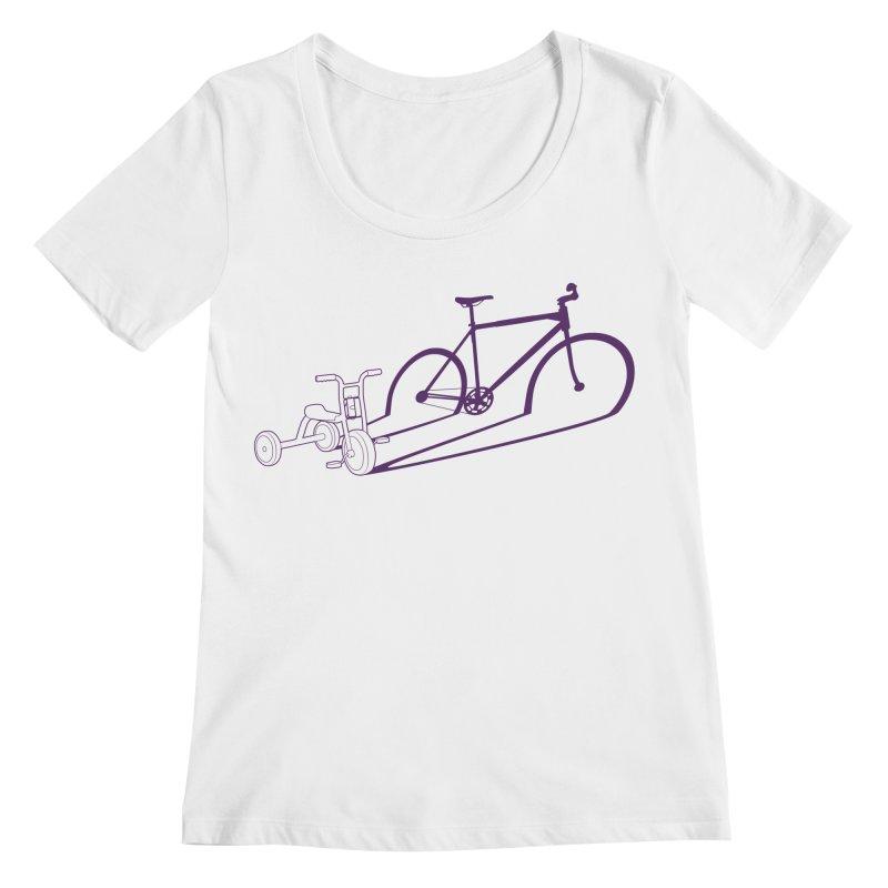 Triciclo Women's Regular Scoop Neck by monoestudio's Artist Shop