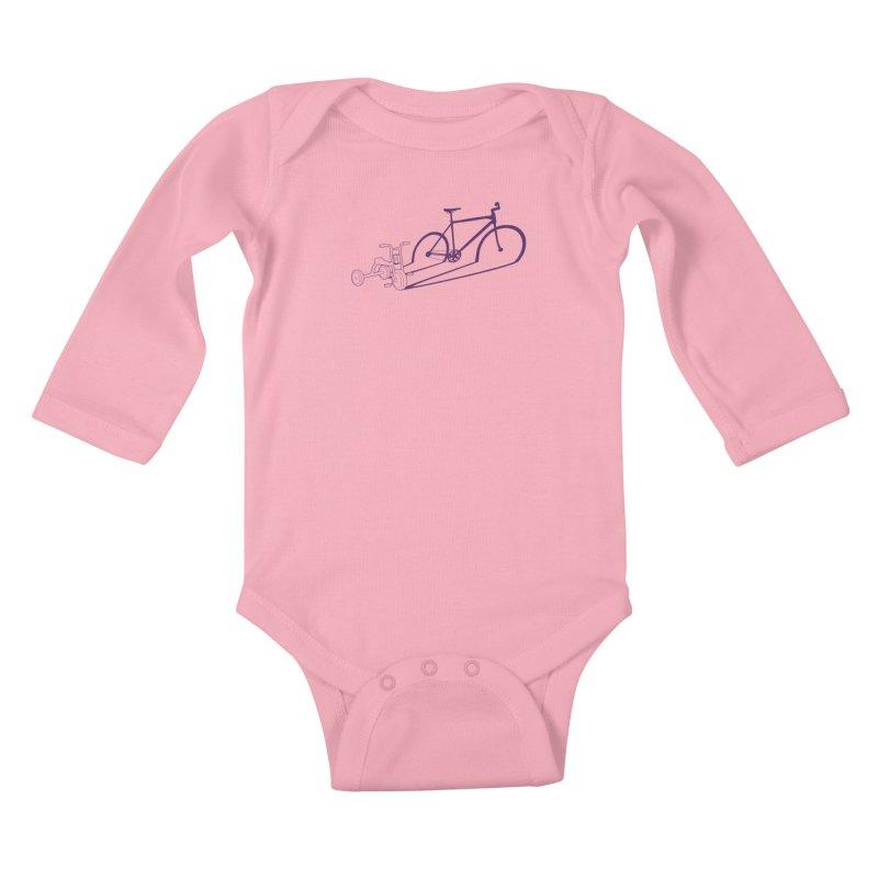 Triciclo Kids Baby Longsleeve Bodysuit by monoestudio's Artist Shop
