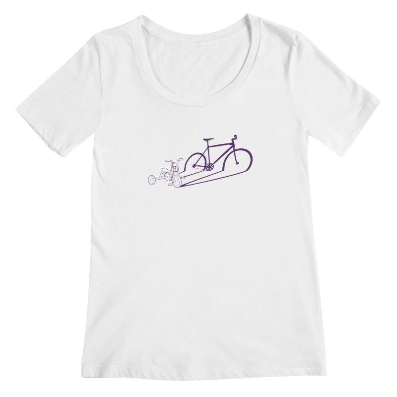 Triciclo Women's Scoopneck by monoestudio's Artist Shop