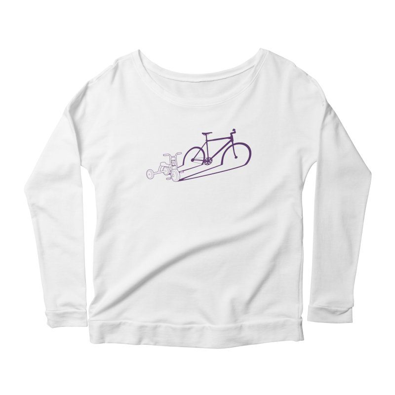 Triciclo Women's Longsleeve Scoopneck  by monoestudio's Artist Shop