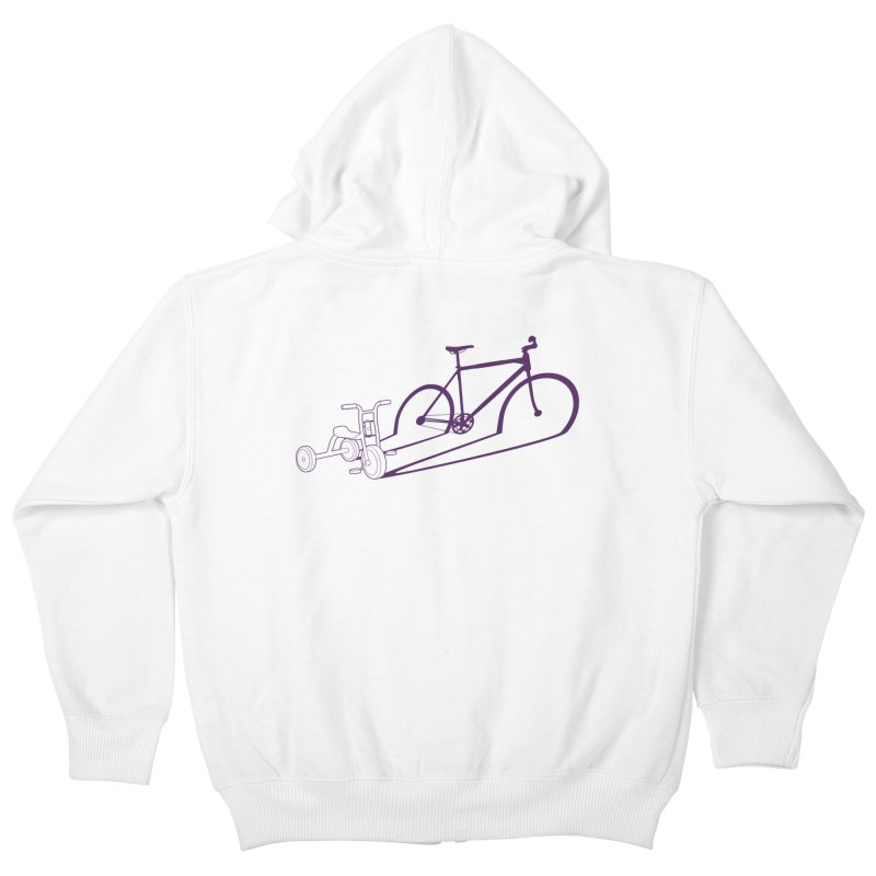 Triciclo Kids Zip-Up Hoody by monoestudio's Artist Shop