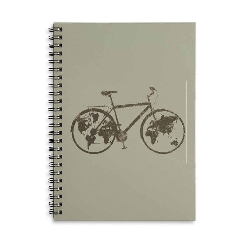 Mundo Accessories Lined Spiral Notebook by monoestudio's Artist Shop