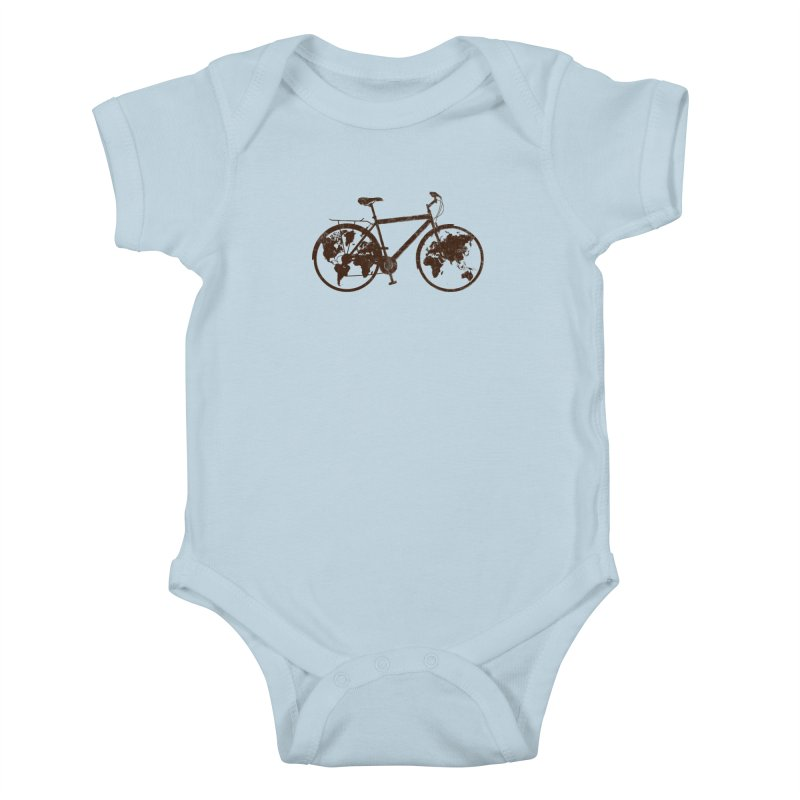 Mundo Kids Baby Bodysuit by monoestudio's Artist Shop