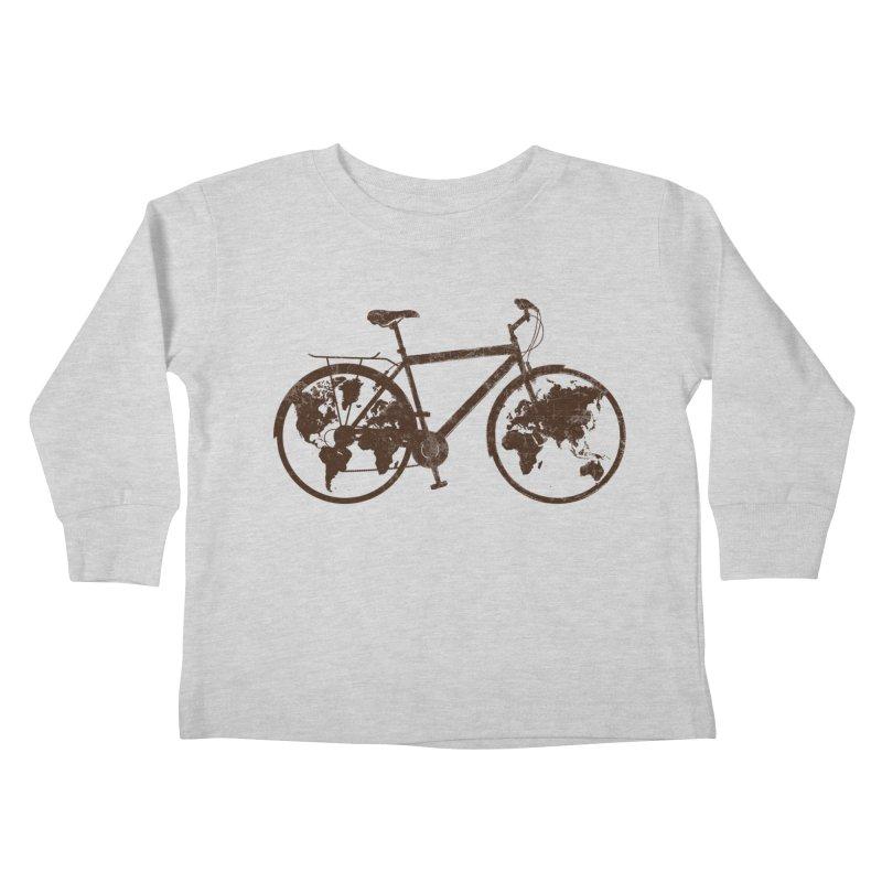 Mundo Kids Toddler Longsleeve T-Shirt by monoestudio's Artist Shop