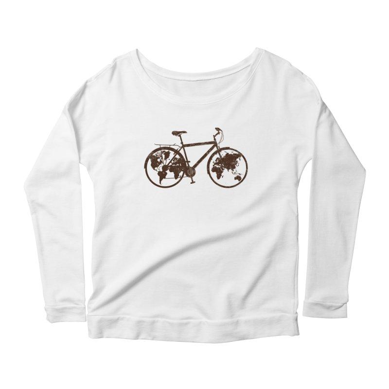 Mundo Women's Scoop Neck Longsleeve T-Shirt by monoestudio's Artist Shop