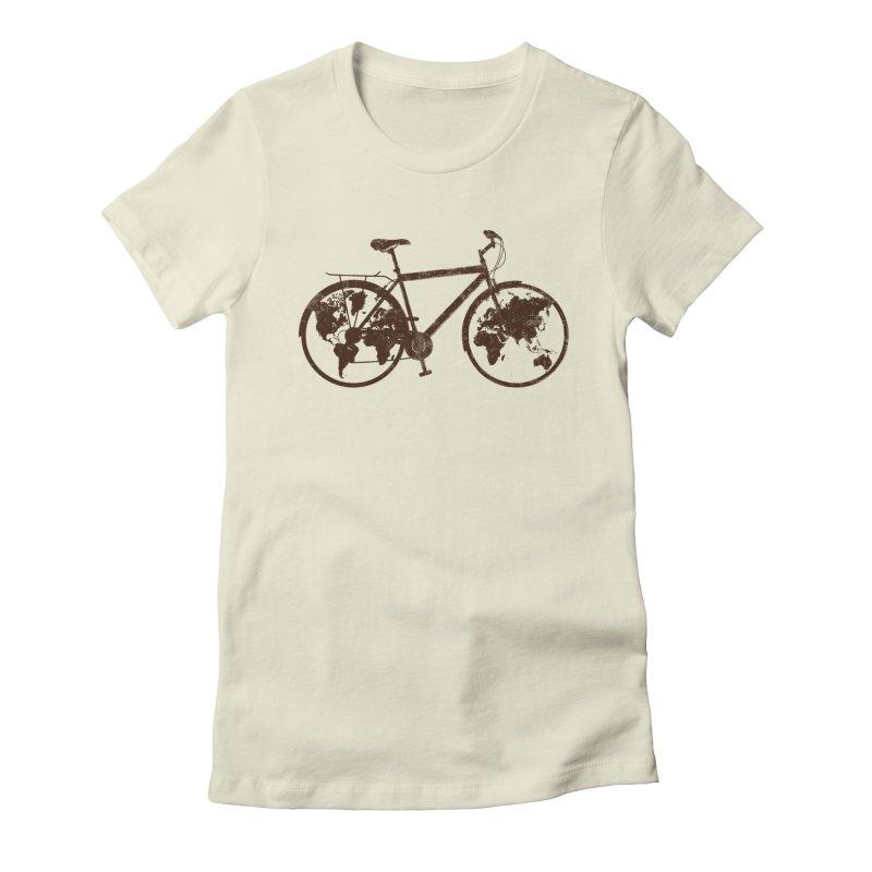 Mundo Women's Fitted T-Shirt by monoestudio's Artist Shop