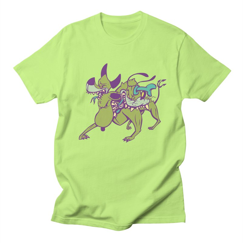 Cancerbero in Men's Regular T-Shirt Neon Green by monoestudio's Artist Shop