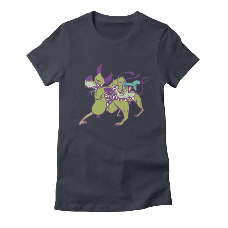 Cancerbero Women's Fitted T-Shirt by monoestudio's Artist Shop