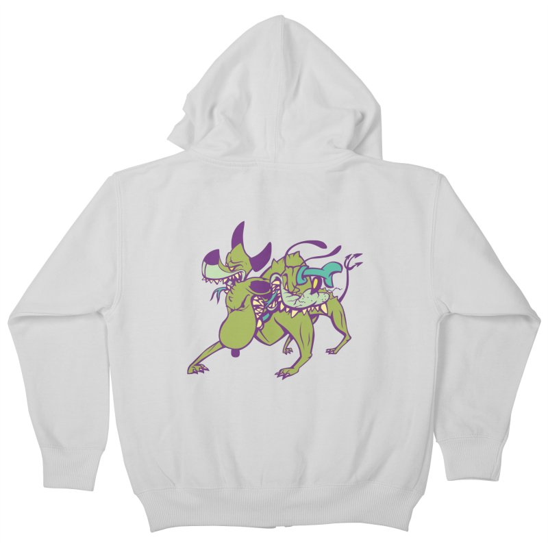 Cancerbero Kids Zip-Up Hoody by monoestudio's Artist Shop