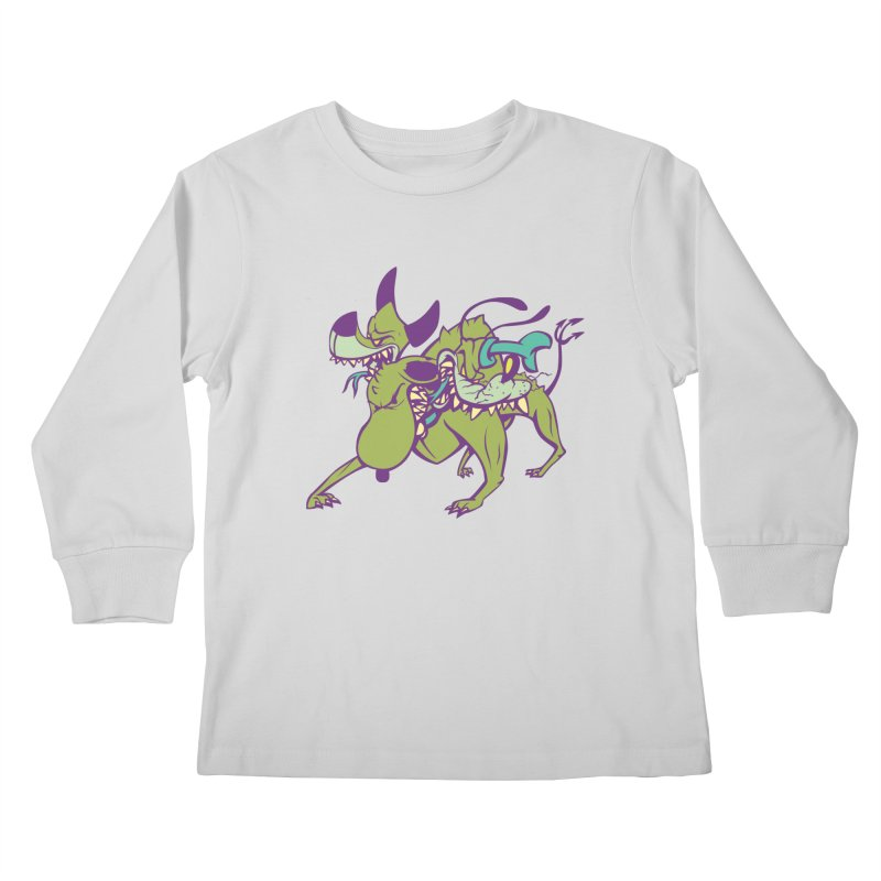 Cancerbero Kids Longsleeve T-Shirt by monoestudio's Artist Shop
