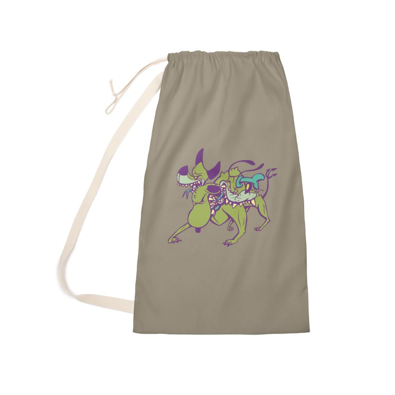 Cancerbero Accessories Laundry Bag Bag by monoestudio's Artist Shop