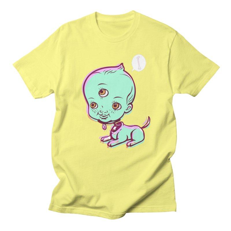 Puppy in Men's Regular T-Shirt Lemon by monoestudio's Artist Shop