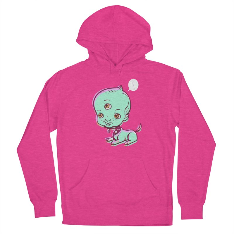 Puppy in Women's French Terry Pullover Hoody Heather Heliconia by monoestudio's Artist Shop