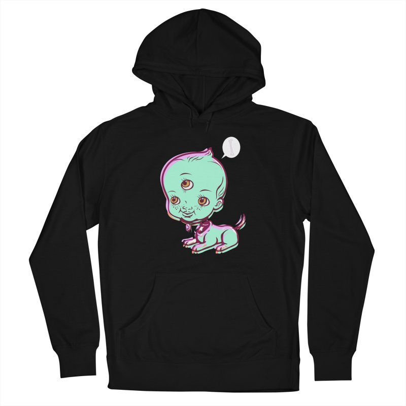 Puppy Men's French Terry Pullover Hoody by monoestudio's Artist Shop