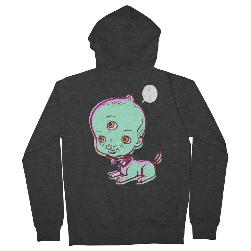 Puppy Men's Zip-Up Hoody by monoestudio's Artist Shop