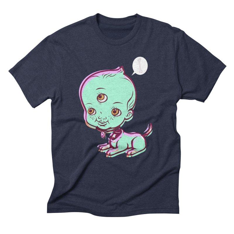 Puppy Men's Triblend T-Shirt by monoestudio's Artist Shop