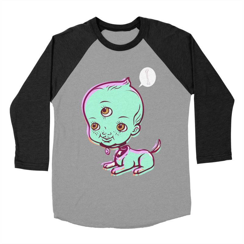 Puppy Men's Baseball Triblend T-Shirt by monoestudio's Artist Shop