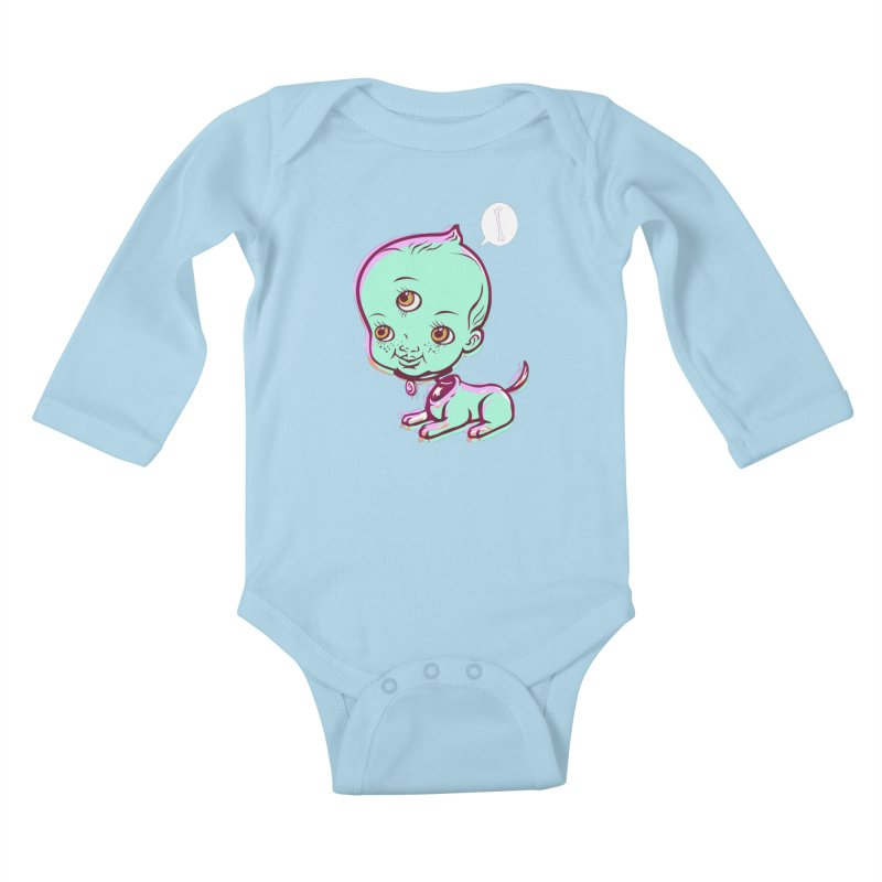 Puppy Kids Baby Longsleeve Bodysuit by monoestudio's Artist Shop