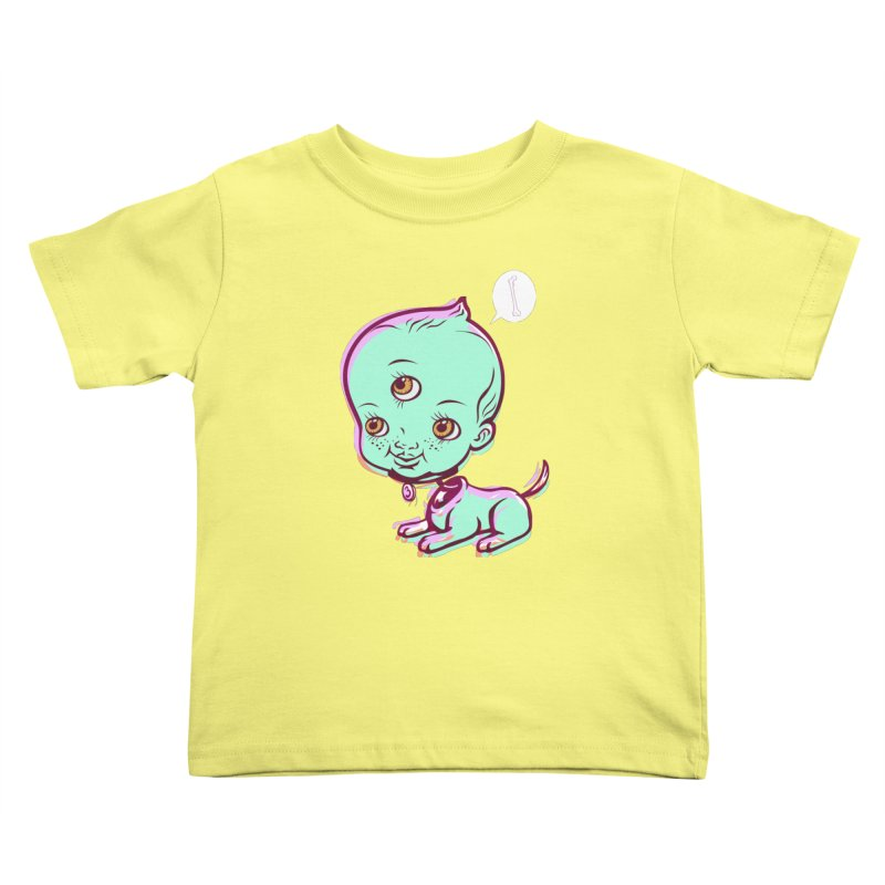 Puppy Kids Toddler T-Shirt by monoestudio's Artist Shop